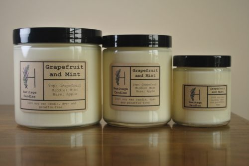 Grapefruit and Mint Set of 3