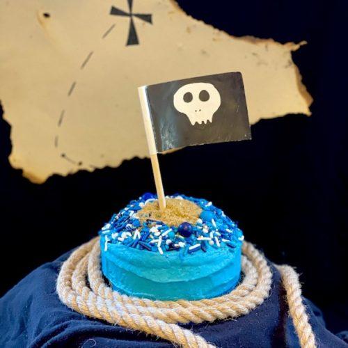 Pirate theme cake kit for kids baking
